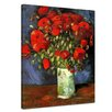 Bilderdepot24 'Vase with Red Poppies' by Vincent van Gogh Framed Oul Painting Print on Canvas
