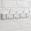 Maine Furniture Co. Heritage Wooden Coat Rack with 4 Hooks