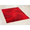Hazelwood Home 3D Whisper Spin Hand-Tufted Red Area Rug