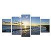 Latitude Run 'Day Break' 5 Piece Photographic Print on Wrapped Canvas Set