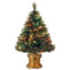 The Holiday Aisle Fiber Optics 3' Green Firework Artificial Christmas Tree with 50 LED Multi Lights and Stand