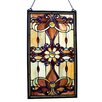 Astoria Grand Ludington Tiffany Style Stained Glass Window /Wall Panel
