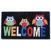 Elite Home Collection Welcome Owl Tough Coir PVC Indoor/Outdoor Entrance Doormat
