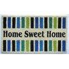 Elite Home Collection Home Sweet Home Tough Coir PVC Indoor/Outdoor Entrance Doormat