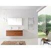 "Frausto 55"" Double Bathroom Vanity Set with White Top"