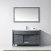 "Brayden Studio Frausto 55"" Single Bathroom Vanity Set with White Top and Mirror"
