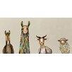 Mercury Row 'Donkey, Llama, Goat, Sheep on Cream' Framed on Canvas