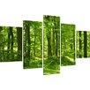 Urban Designs 5-tlg. Leinwandbilder-Set Trees, Fotodruck