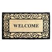 Elite Home Collection Welcome With Scroll Border Coir Doormat