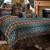 Carstens Inc. Turquoise Chamarro Reversible Comforter Set