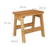 Relaxdays Bamboo Foot Step Stool