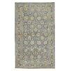 Caracella Silk Ziegler Hand-Woven Grey/Yellow Area Rug