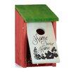 Relaxdays Home Tweet Home Wooden Nesting Box Hanging Bird House