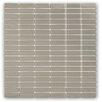 Splashback Tile SAMPLE - Stainless Steel Metal Mosaic Tile in Brushed Silver