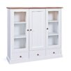 August Grove Skylar Solid Pine China Cabinet
