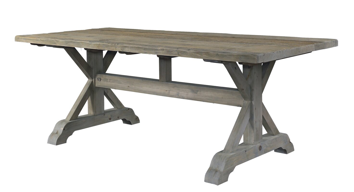 default name. Padmas Plantation Salvaged Wood Dining Table   Reviews   Wayfair