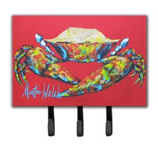 Crab Seafood One Leash Holder and Key Hook by Caroline's Treasures