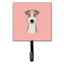 Checkerboard Wire Hai Fox Terrier Leash Holder and Wall Hook by Caroline's Treasures