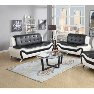 Elzada 2 Piece Cushion Back Living Room Set by Latitude Run