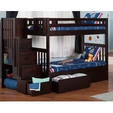 Margery Twin Bunk Bed with Storage by Viv + Rae