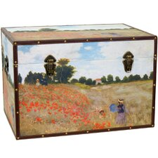 Monet's Poppies Trunk by Oriental Furniture