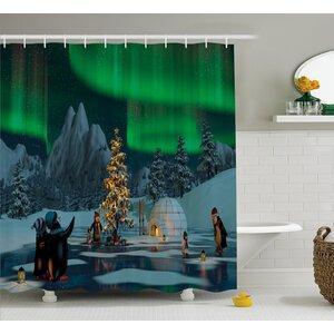 Frozen Lake Shower Curtain East Urban Home