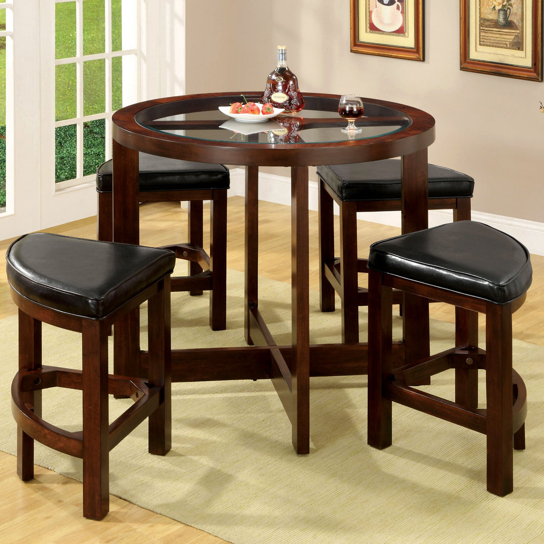 Kitchen bar table sets - Alchemist 5 Piece Counter Height Pub Table Set