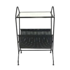 Metal & Glass & Vinyl End Table by Sagebrook Home