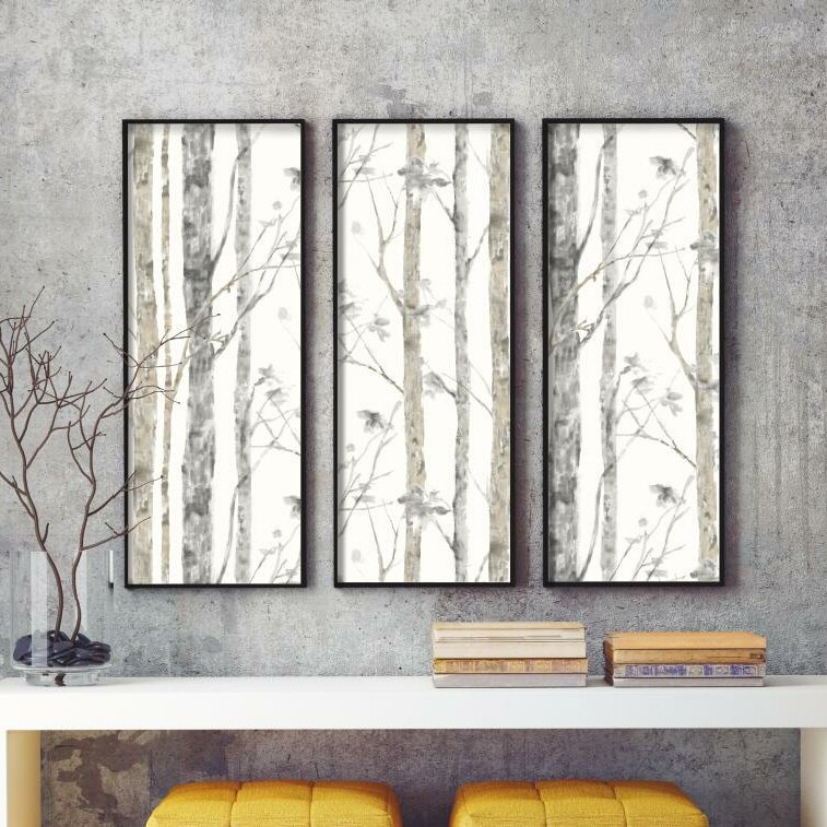 Room mates birch tree peel and stick 20 5 39 x 16 5 - Birch tree wallpaper peel and stick ...