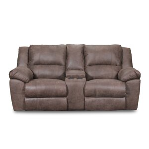 Phoenix Mocha Double Motion Reclining Sofa by Simmons Upholstery