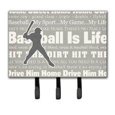 Baseball Is Life Leash Holder and Key Hook by Caroline's Treasures