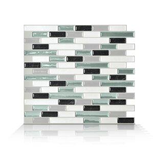 Mosaik Muretto Prairie 10 20 X 9 10 Peel Stick Wall Tile In Charcoal