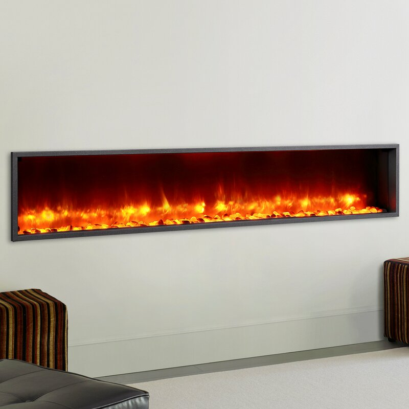 Dynasty  Builtin LED Wall Mount Electric Fireplace Insert - Fireplace inserts electric