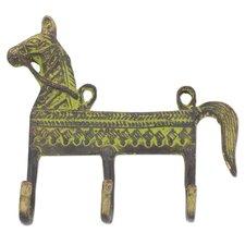 Helpful Horse Brass Coat Rack by Novica