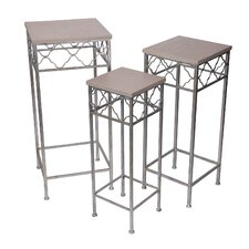 Kamiska 3 Piece Square Plant Stand Set by House of Hampton