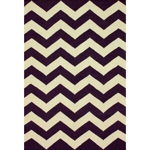 Moderna Purple Chevron Area Rug