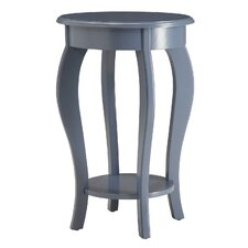 Round Wooden End Table by Homestyle Collection