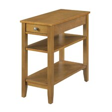 Lucile Three Tier End Table with Drawer by Winston Porter