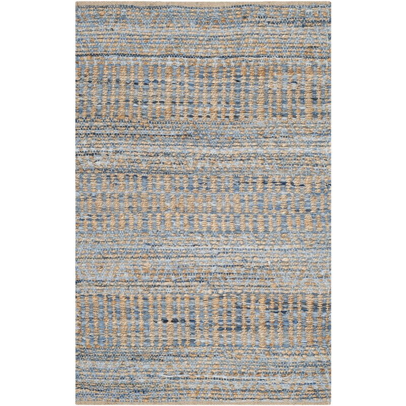 Cromwell Hand Woven Natural/Blue Area Rug