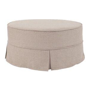 how to make a round slipcover for an ottoman