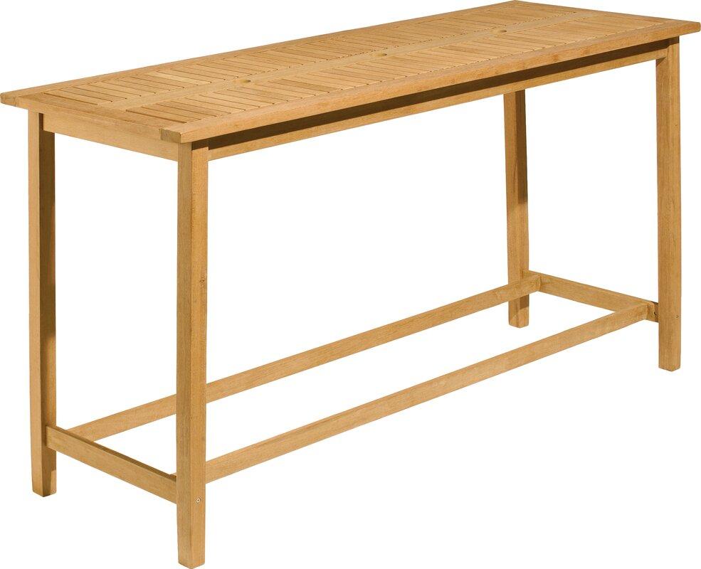 oxford garden dartmoor long bar table  reviews  wayfair - defaultname