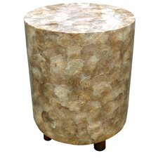 Capiz Shell Round Stool by D-Art Collection