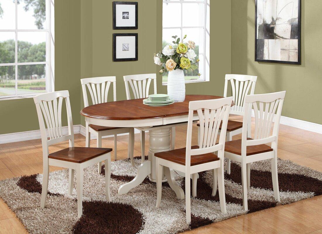 beachcrest home norris 7 piece dining set & reviews | wayfair