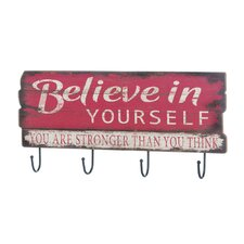 Believe in Yourself  Wall Hook by Zingz & Thingz
