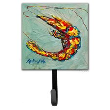 Shrimp Ripples Leash Holder and Wall Hook by Caroline's Treasures