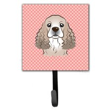 Checkerboard Cocker Spaniel Leash Holder and Wall Hook by Caroline's Treasures