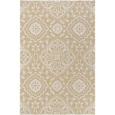 Annette Ruby Straw/Ivory Area Rug