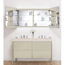 Signature Series Brit LED Mirror 53 W x 28 H Wall Mounted Cabinet by Ronbow