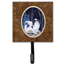 Starry Night Japanese Chin Leash Holder and Wall Hook by Caroline's Treasures