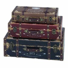 3 Piece Wood Trunk Set by Cole & Grey